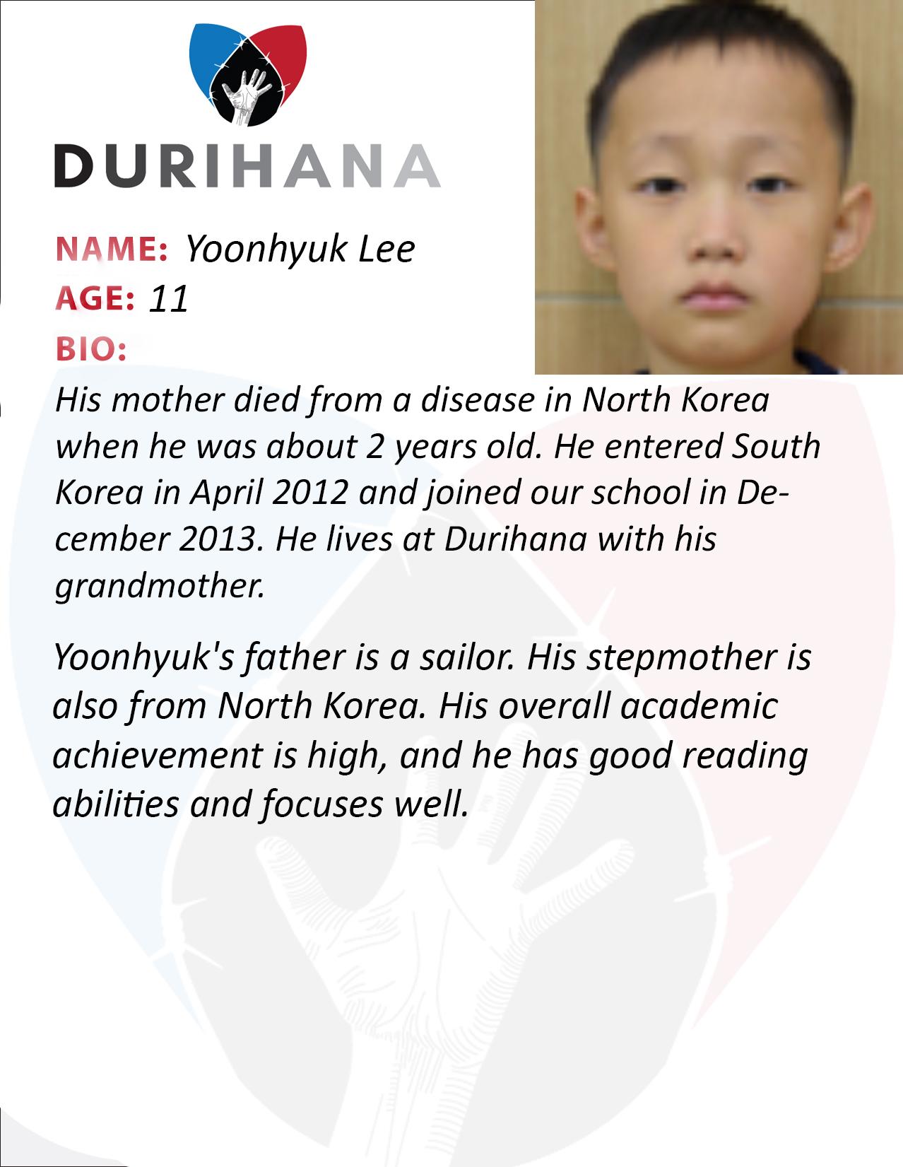 Yoonhyuk Lee Student Bio