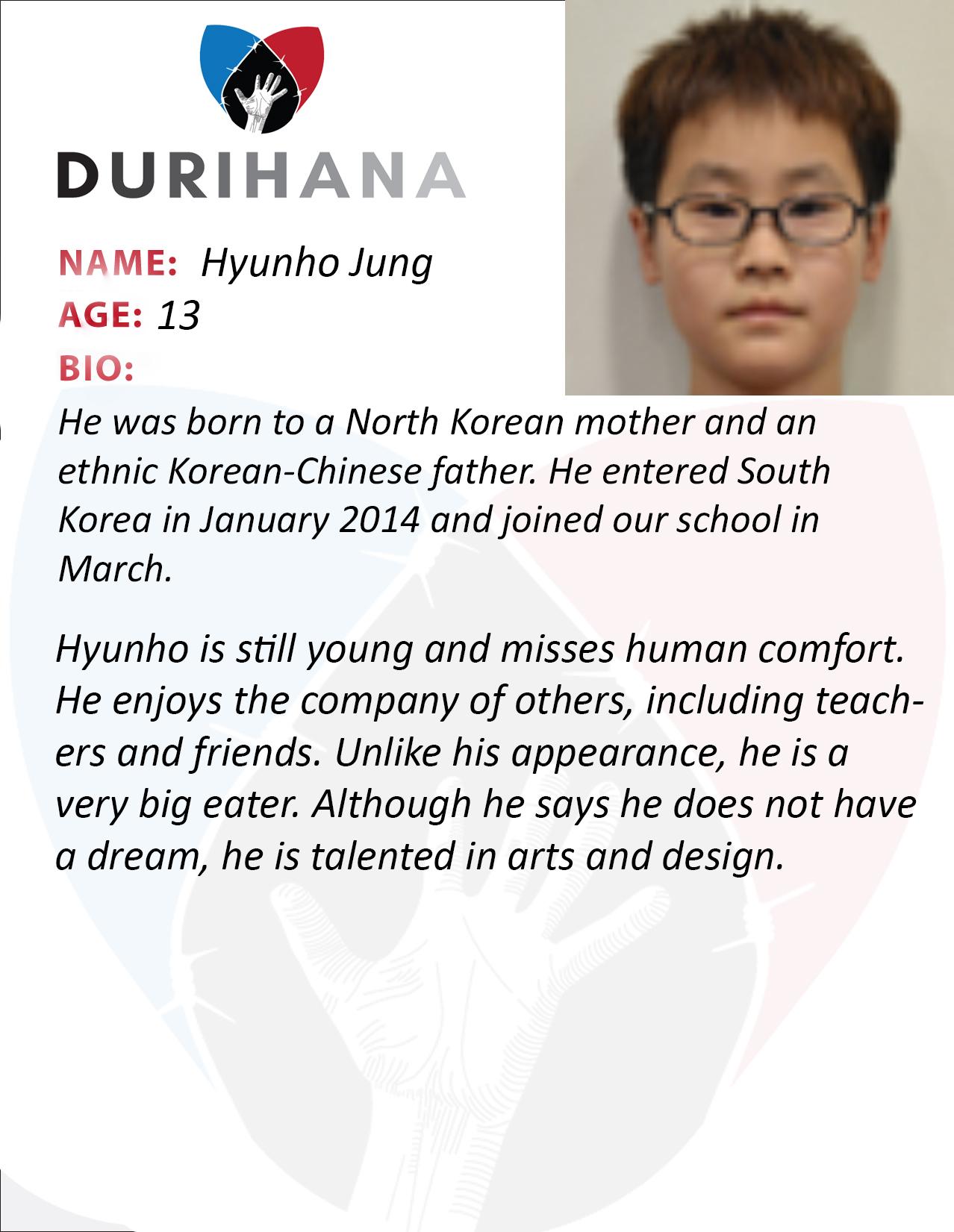 Hyunho Jung Student Bio