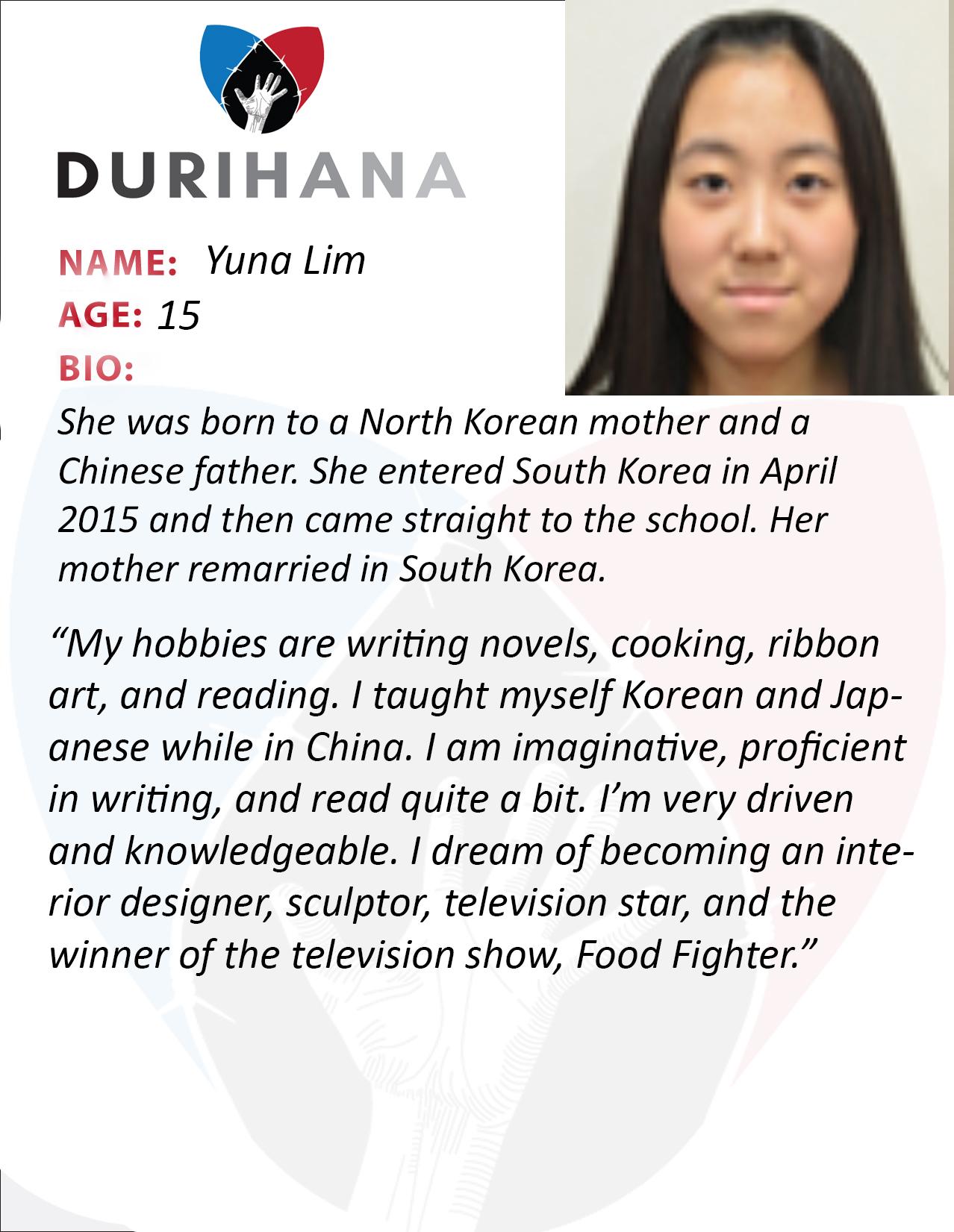 Yuna Lim Student Bio